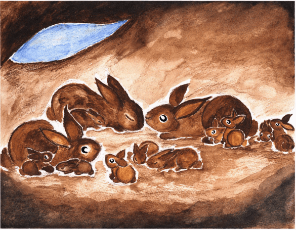 Fort Cuniculus rabbits in a hole