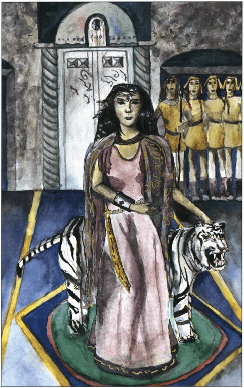 Zordex woman with tiger