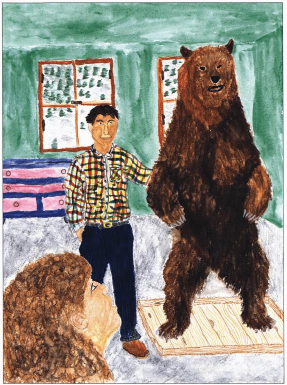 Feelings Towards a Bear standing next to a bear