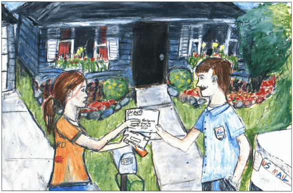 Music Sown with Love meeting the mailman