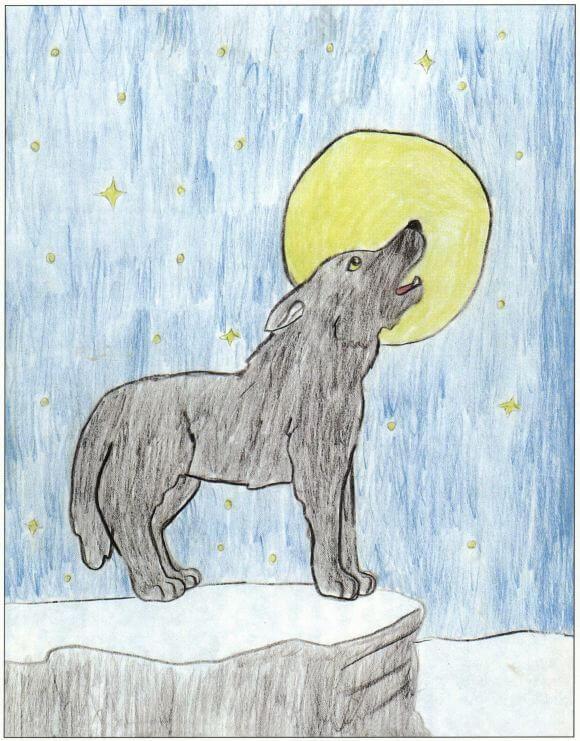 Lakota wolf howling