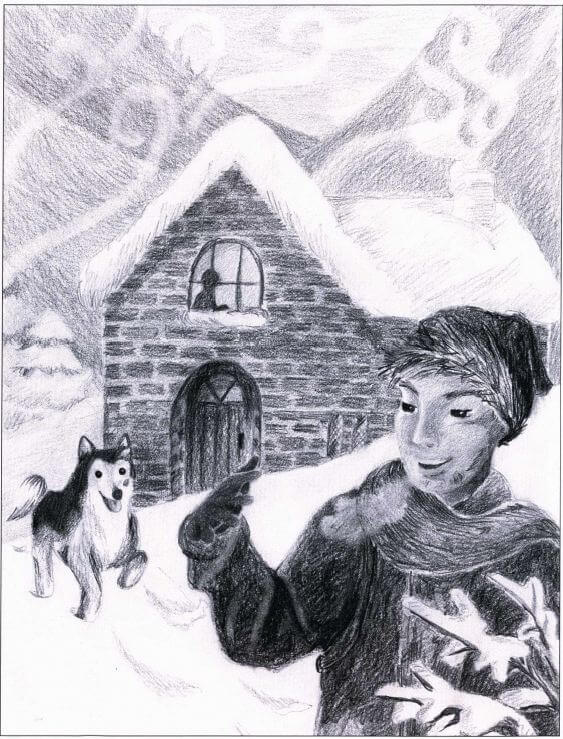 The Ultimate Challenge: To Come Home Alive boy and dog in the snow