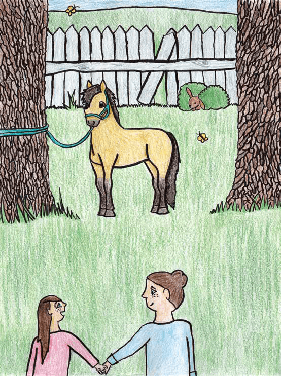 The Pony tied to a tree pony