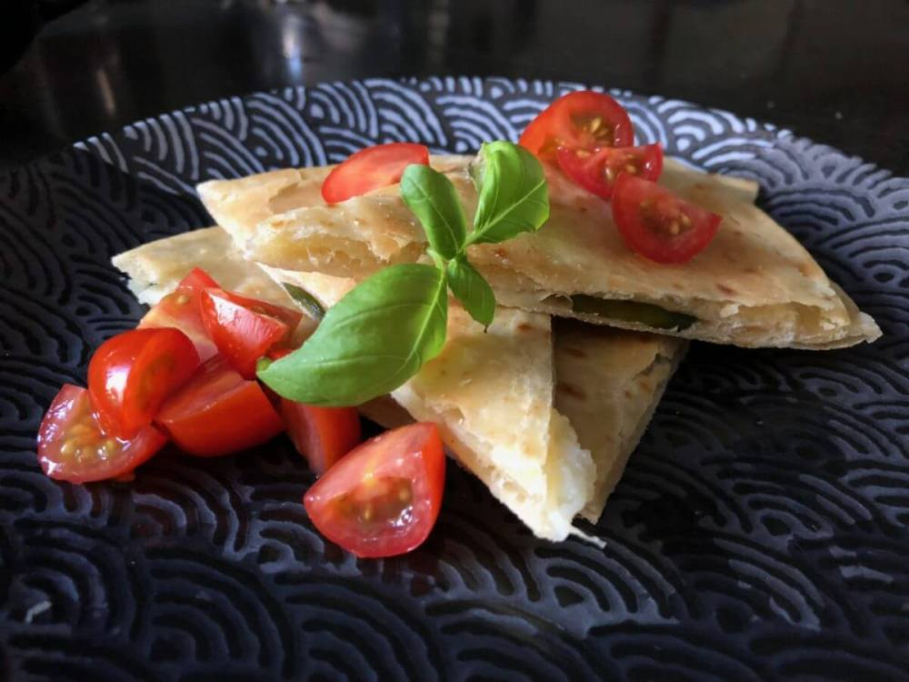 Basil-Asiago-Garlic- Olive Oil Tortillas