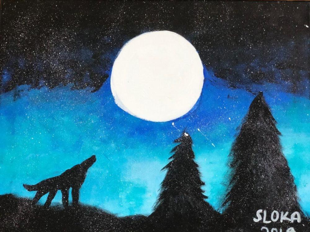 Fox on a Snowy Night