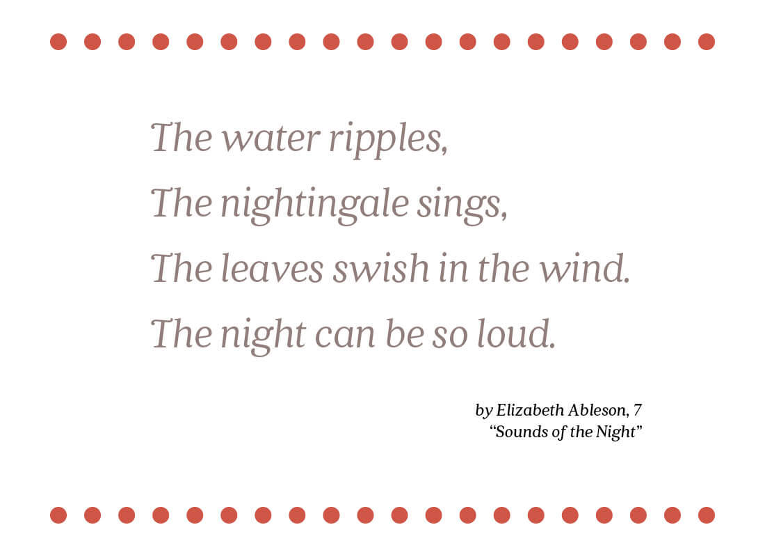 sounds of the night text image