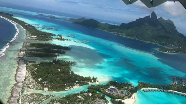 Up Over Bora Bora