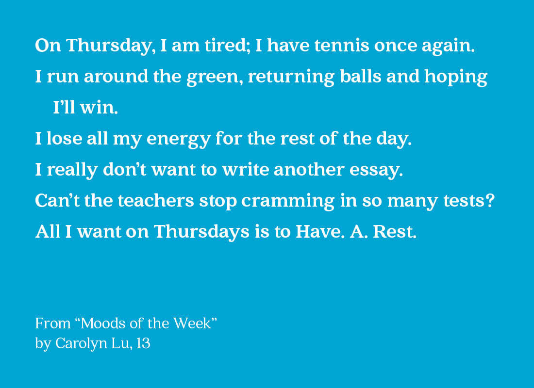 moods of the week text image