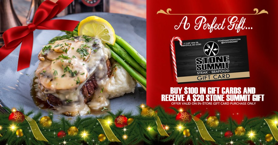 Give the gift of Stone Summit Steak and Seafood