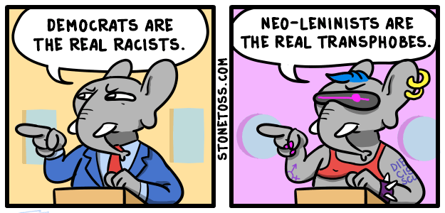 comic about republicans calling the democrats the real racists