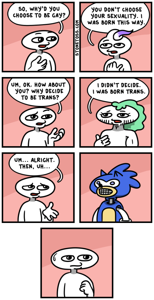 comic about homosexuality being a choice