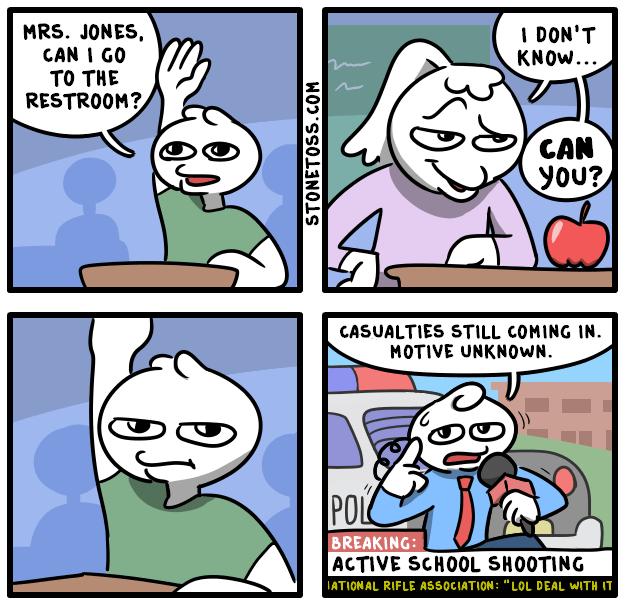 comic about public school teachers being rude