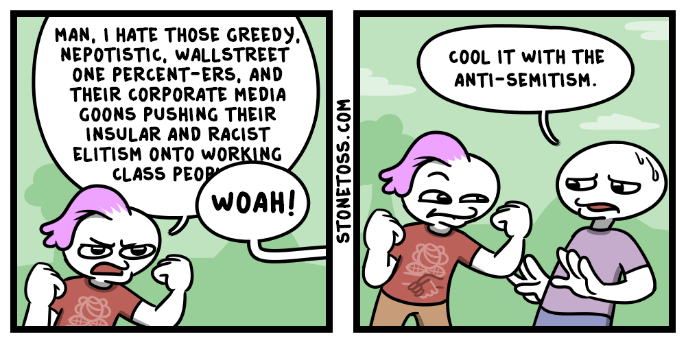 comic about how leftists disproportionately target jews