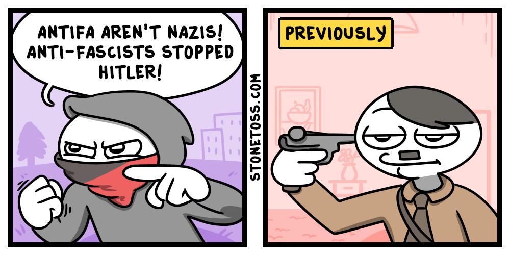comic comparing Antifa and nazis
