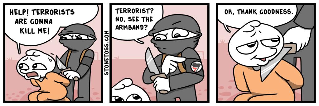 comic about Antifa being terrorists