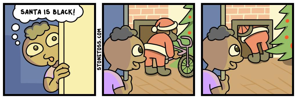 comic about black Santa Claus