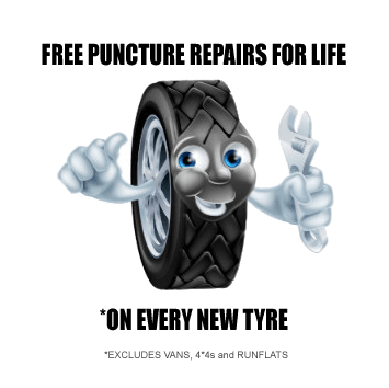 Free Puncture Repair for your Tyres life