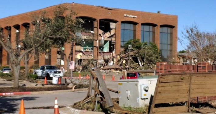 Dallas Tornado Damage