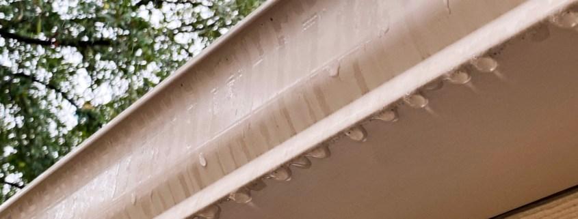 Raindrops On Gutter