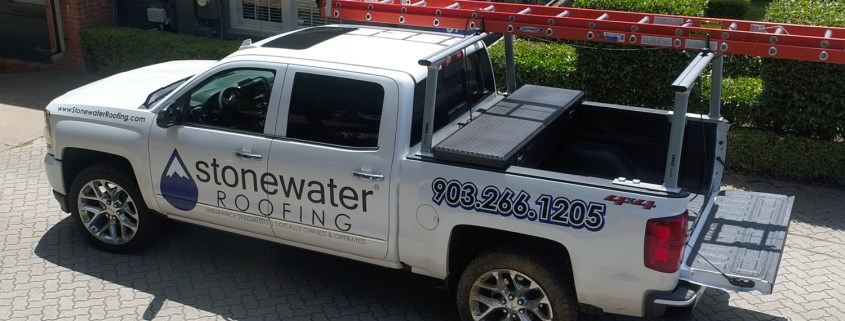 Stonewater Roofing Truck