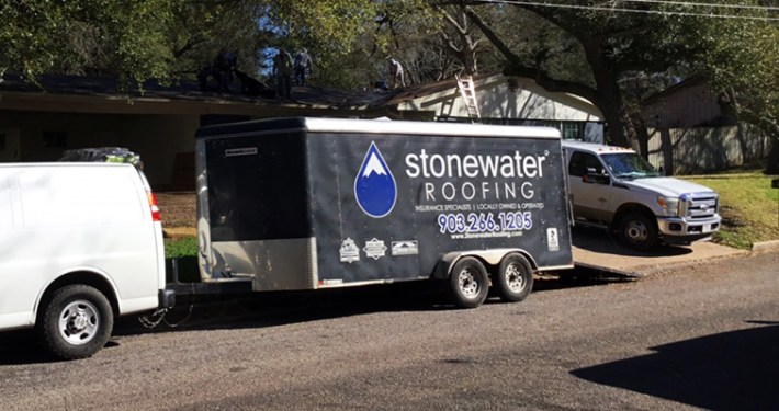 Stonewater Roofing Crew Truck
