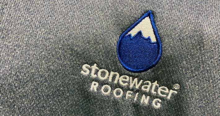 Stonewater Roofing Shirt Logo