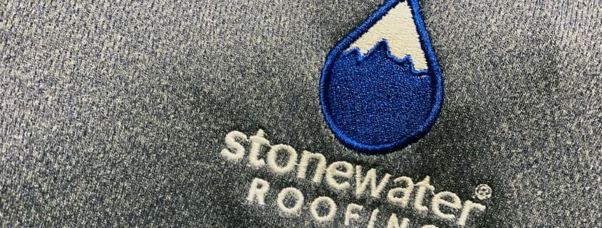 Stonewater Roofing Shirt Logo