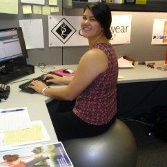 Fitball Balance Ball Chair Farm House Why Not Use A Fit As Desk Stonewear Designs S Blog We