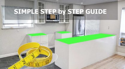 step by step guide on how to measure kitchen countertop