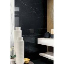 Nero Marquina Porcelain Marble Tile