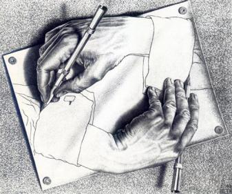 drawing-hands-M.C.Escher