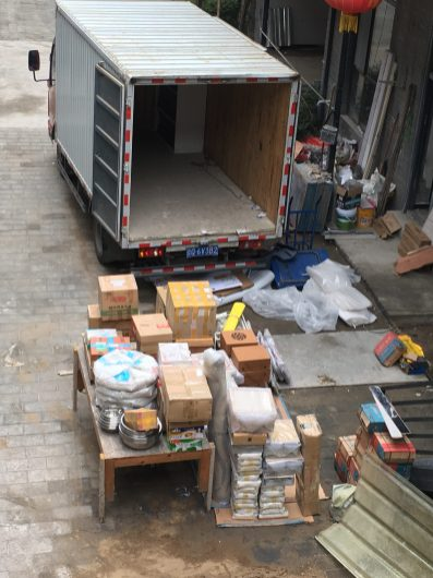 Ready to Load the truck to take my artworks to storage (May 2019)