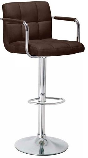 Kitchen, Bar, Breakfast Bar Stools With Arm Rests Chrome