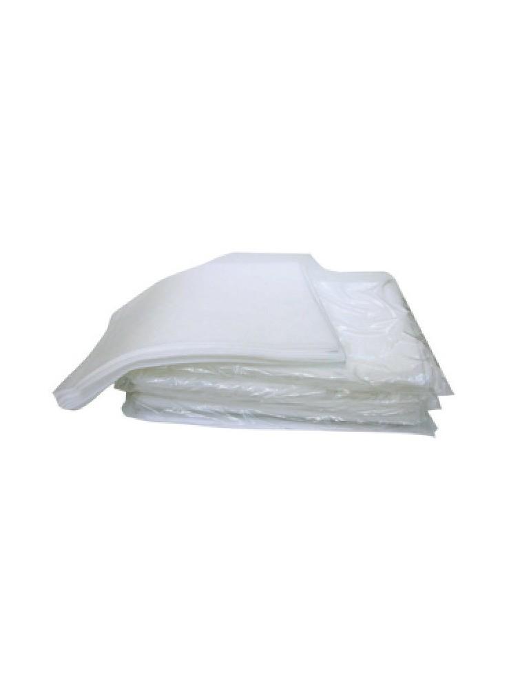 taie d oreiller jetable x10 avec rabat blanche 65 x 65 cm