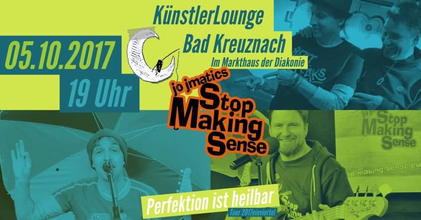 Demnächst: KünstlerLounge, Markthaus Bad Kreuznach, 05.10.2017