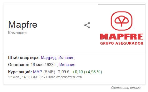 MAPFRE Страховщик