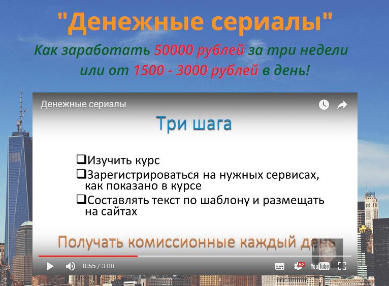 Денежные Сериалы, Мария Воронина