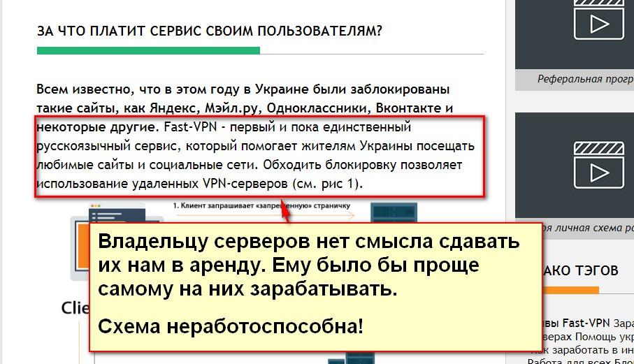 Сервис Fast-VPN (фокус), обход блокировки в украине, заработок на обходе блокировки сайтов в украине