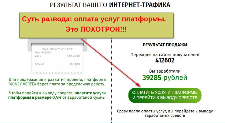 Money Vertex, Money High, купля-продажа интернет-трафика