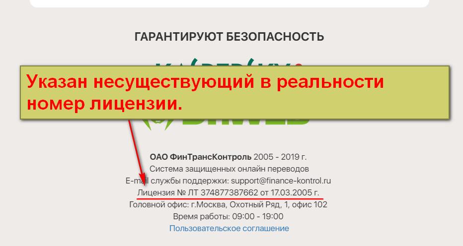 ОАО ФинТрансКонтроль, Финансовый контроль, Fin Federal Control
