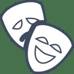 Grey Logo Outline 8pt