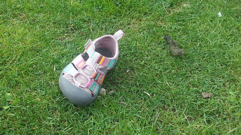 the facts behind missing children like krystal alvarez - picture of her shoe