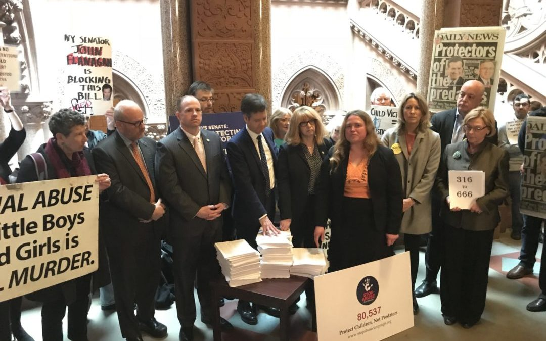 Stop Abuse Campaign, sponsors, allies gather to present petition for Child Victims Act