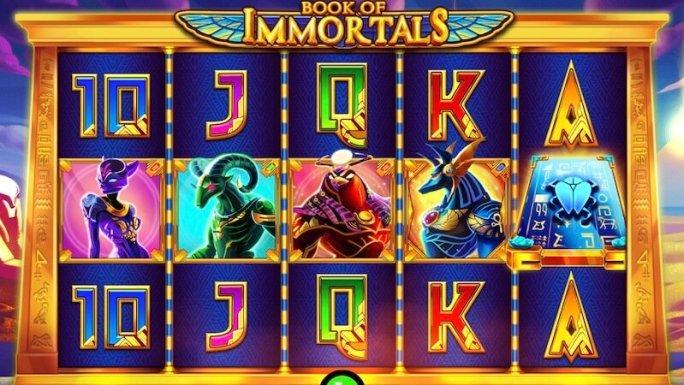 book of immortals slot gameplay