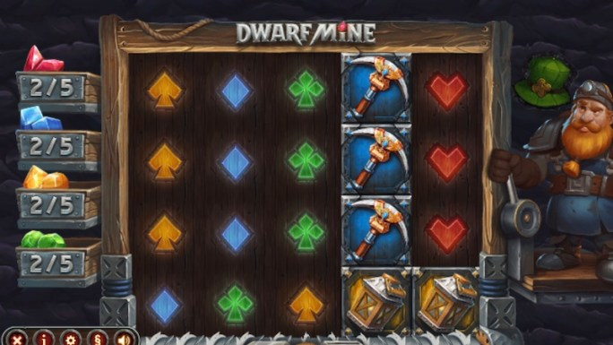 dwarf mine slot gameplay