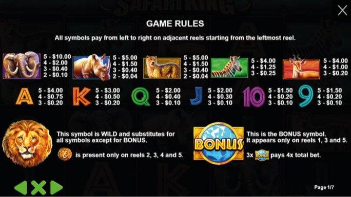 safari-king-slot-rules