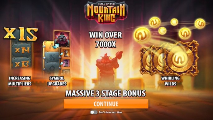 hall of the mountain king slot rules