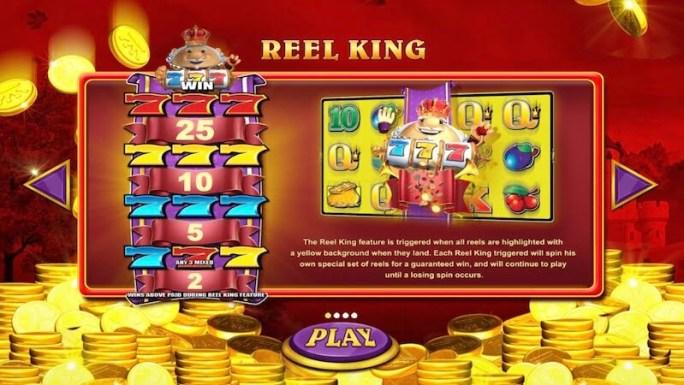 reel king mega slot rules