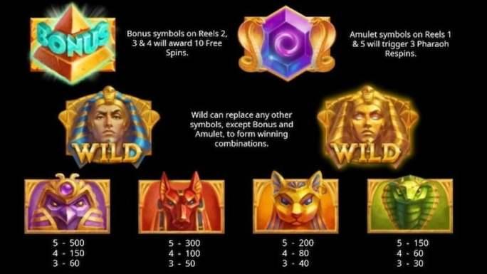 egyptian king slot rules