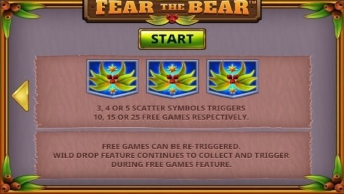 fear the bear slot rules
